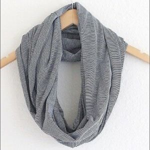 Daytrip navy and white stripe inifinity scarf